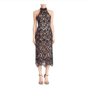 Nicholas Wallpaper Lace Halter Dress